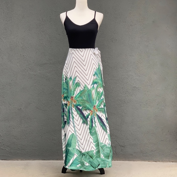 CBR Dresses & Skirts - CBR | Palm Printed | Wrap | Maxi-Skirt